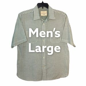 Weaterproof L Button Front Shirt Olive White Plaid